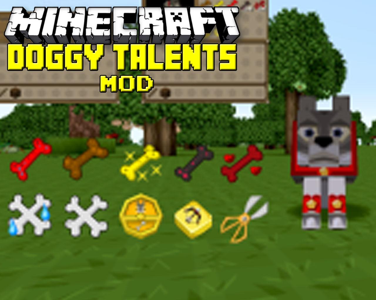 Doggy Talents Mod 1.13.2/1.12.2