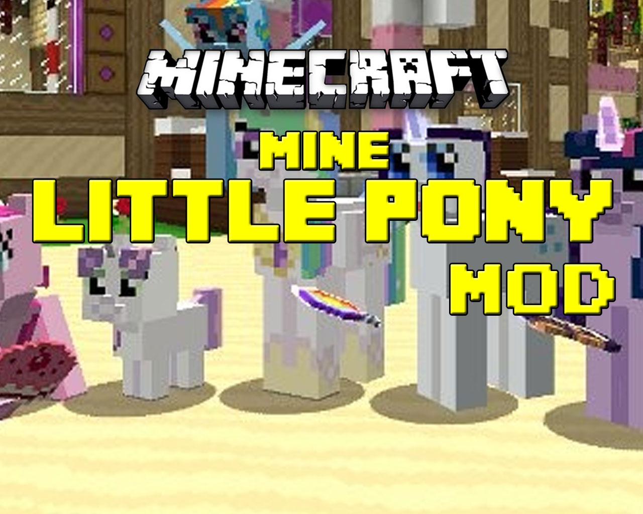 Mine Little Pony Mod 1.6.4/1.6.2