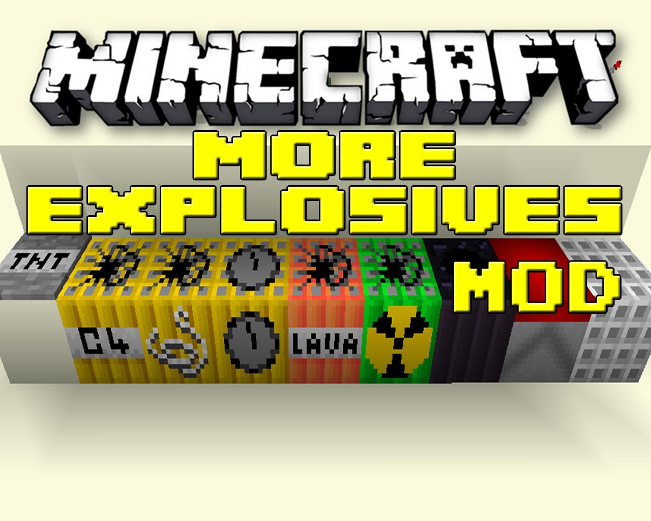 More Explosives Mod 1.6.2/1.5.2